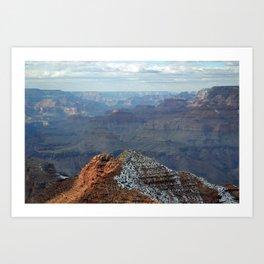 Grand Canyon in Winter Art Print