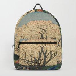 Spring Cherry Trees Blossoms Ukiyo-e Japanese Art Backpack