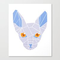 sphynx Canvas Prints featuring Sphynx by H   starhalos