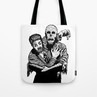 taxi driver Tote Bags featuring Taxi Driver by Addison Karl