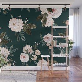 Moody Vintage Roses light Wall Mural
