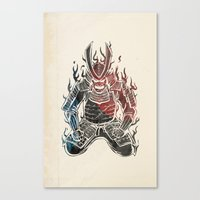 samurai champloo Canvas Prints featuring Samurai  by Mikio Murakami