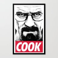 cook Canvas Prints featuring Cook by Shine Out