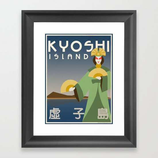 Kyoshi Island Travel Poster Framed Art Print