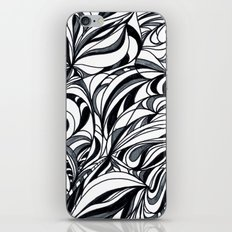 black and grey iPhone & iPod Skin