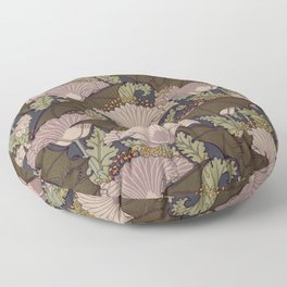 Vintage Art Deco Bat and Flowers Floor Pillow