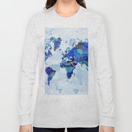 Design 105 world map Long Sleeve T-shirt
