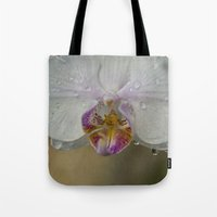 orchid Tote Bags featuring Orchid by Mary Kilbreath