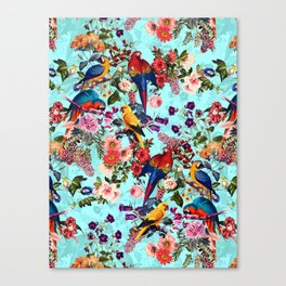 Floral and Birds XI Canvas Print
