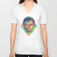 leonardo dicaprio V-neck T-shirts featuring Leonardo Dicaprio by Rene Alberto