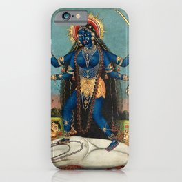 Hindu Destruction Goddess Kali 24 iPhone Case