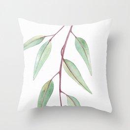 Eucalyptus Leaves Two Throw Pillow