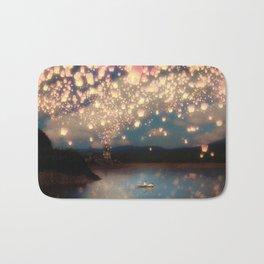 Love Wish Lanterns Bath Mat