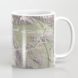 Vintage Relief Map of Southern California (1898) Coffee Mug