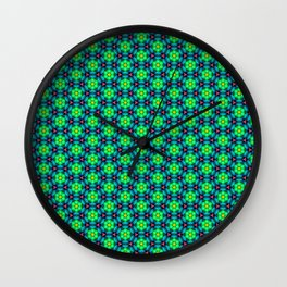 Bubble Pattern in Green Wall Clock