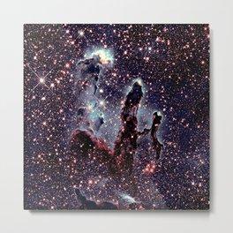 Galaxy : pillars of creation nebula Metal Print
