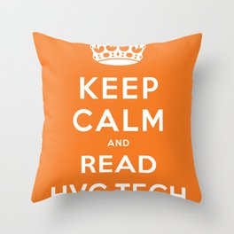 Keep calm and read HVG.tech Throw Pillow