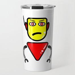 Robot Security Guard Travel Mug