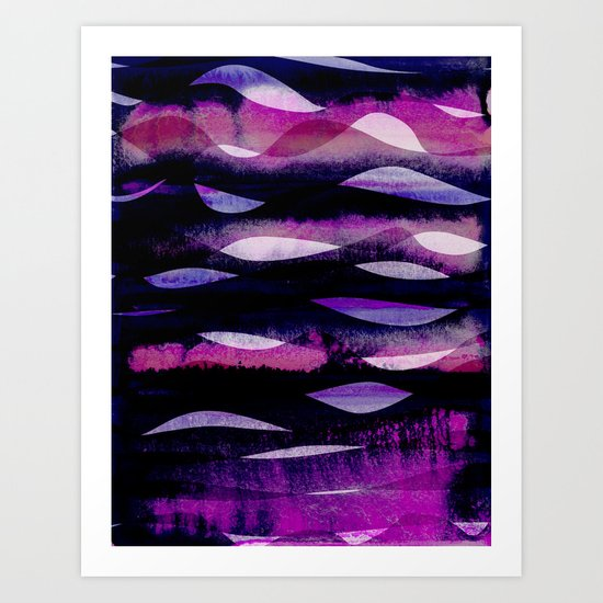 Purple Waves Art Print