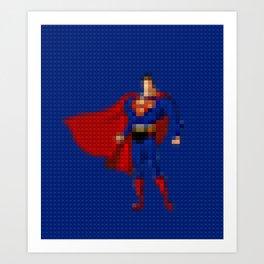 Man of Steel - Toy Building Bricks Art Print