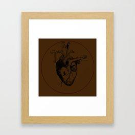Growing Heart - Brown Framed Art Print