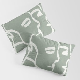 Abstract Statues Pillow Sham