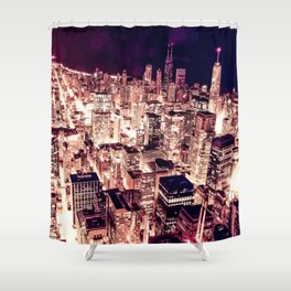 Chicago NightLight Shower Curtain