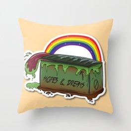 The Dream Dumpster Throw Pillow