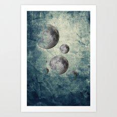 Zen Curriculum Moon Art Print