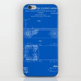 Thomas Edison Automobile Patent - Blueprint iPhone Skin