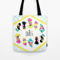 Hipster Smile Tote Bag