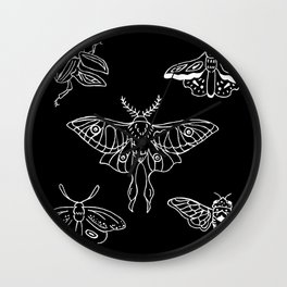 Flying Insect Themed Illustration Wall Clock