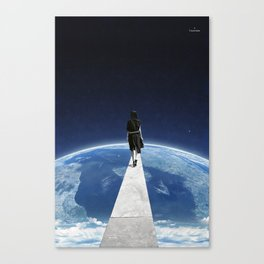 It's a long and lonely road ... Canvas Print