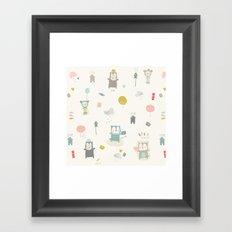 Funny Bears Framed Art Print