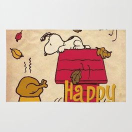 Thanksgiving Snoopy Rug