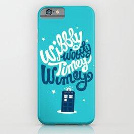 Wibbly Wobbly Timey Wimey iPhone Case