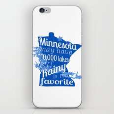Rainy Lake Love iPhone & iPod Skin