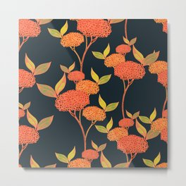 Orange autumn berries. Metal Print