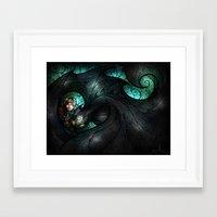 mandie manzano Framed Art Prints featuring The Alpha by Mandie Manzano