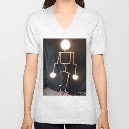 Lamp Man - FredPereiraStudios_Page_12 Unisex V-Neck