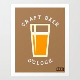 Craft Beer O'Clock Art Print