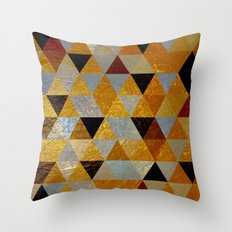 Abstract #382 Copper Foil Throw Pillow