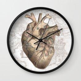 adventure heart-world map 1 Wall Clock