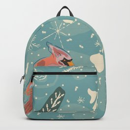 Cardinal Bird Pattern Backpack