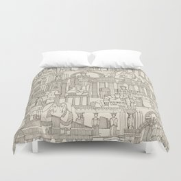 Ancient Greece natural Duvet Cover