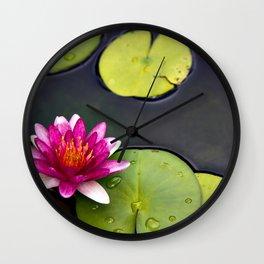Pink Lily at Jeju Island Wall Clock