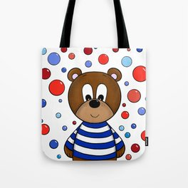 Cute bear and bubbles Tote Bag