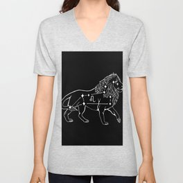 Leo Constellation Unisex V-Neck