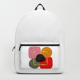Geometrical Shapes Flower. Minimal Abstract Art Backpack