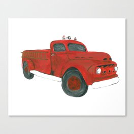 Antique Firetruck Canvas Print